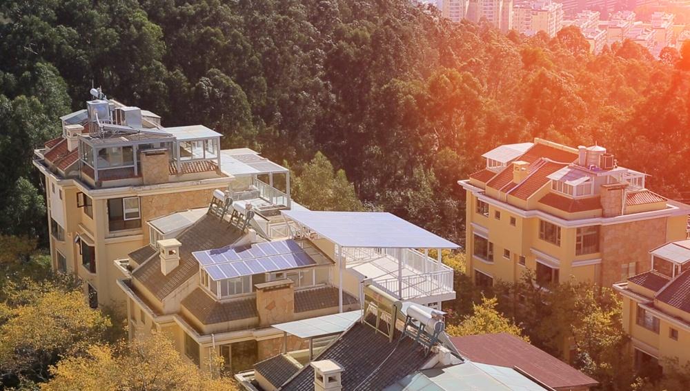 Restar sistema solar de conexión a la red de techo de 2.4KWp en Yunnan, China