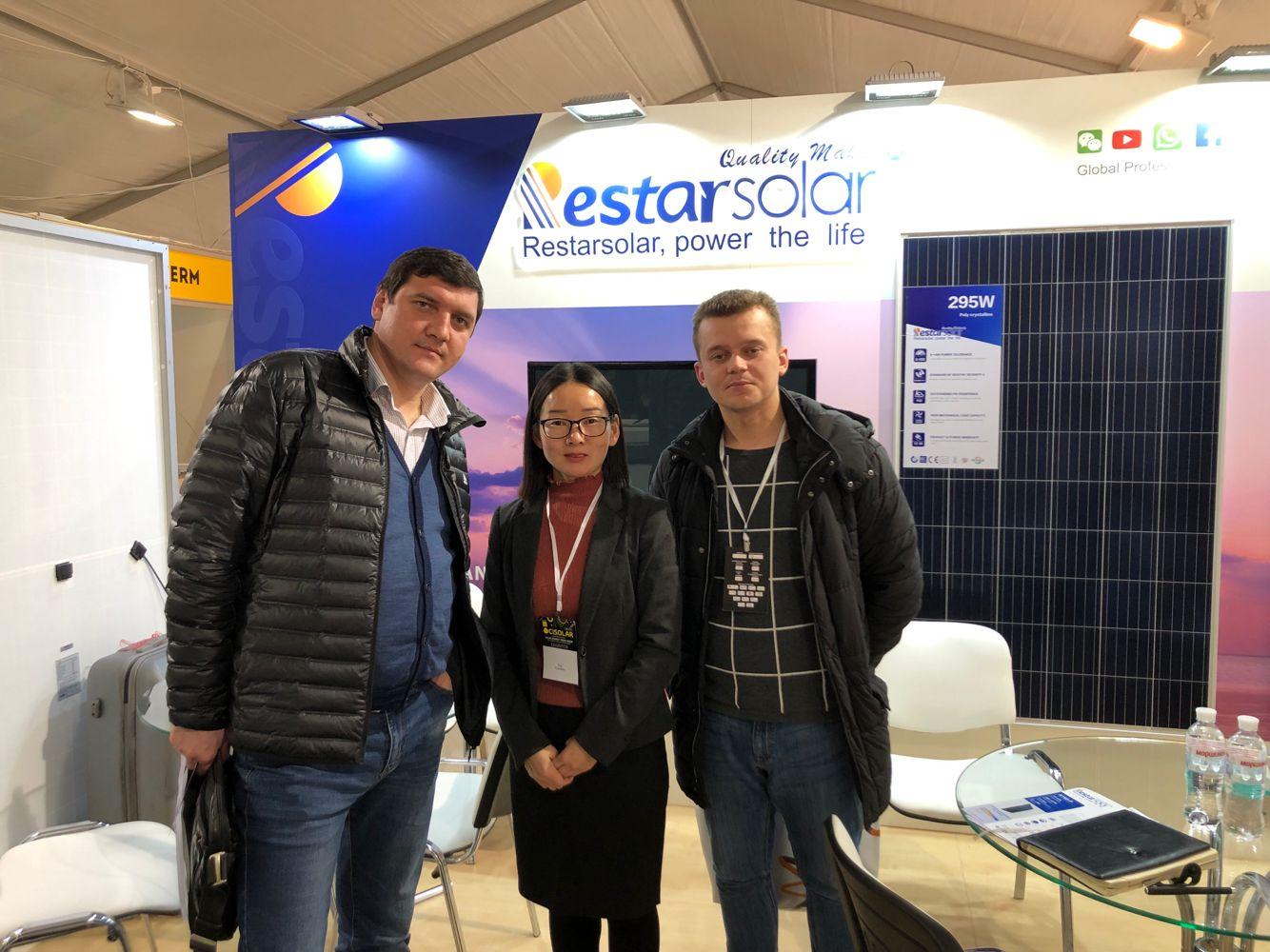 Restar Solar participa en el 2019 International Solar Show de Ucrania y continúa explorando el mercado europeo