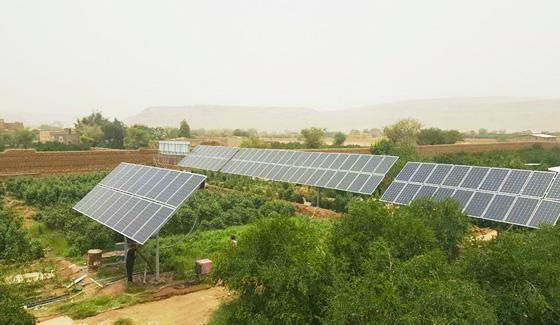 Sistema de bomba solar Restar 22KW para riego agrícola en Sana, Yemen.