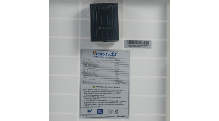 Poly Crystalline Panel RTM015P